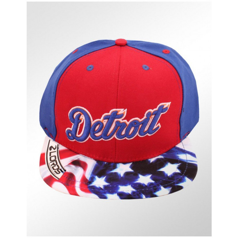 Boné Lords Snapback Aba Reta Top Cities Detroit