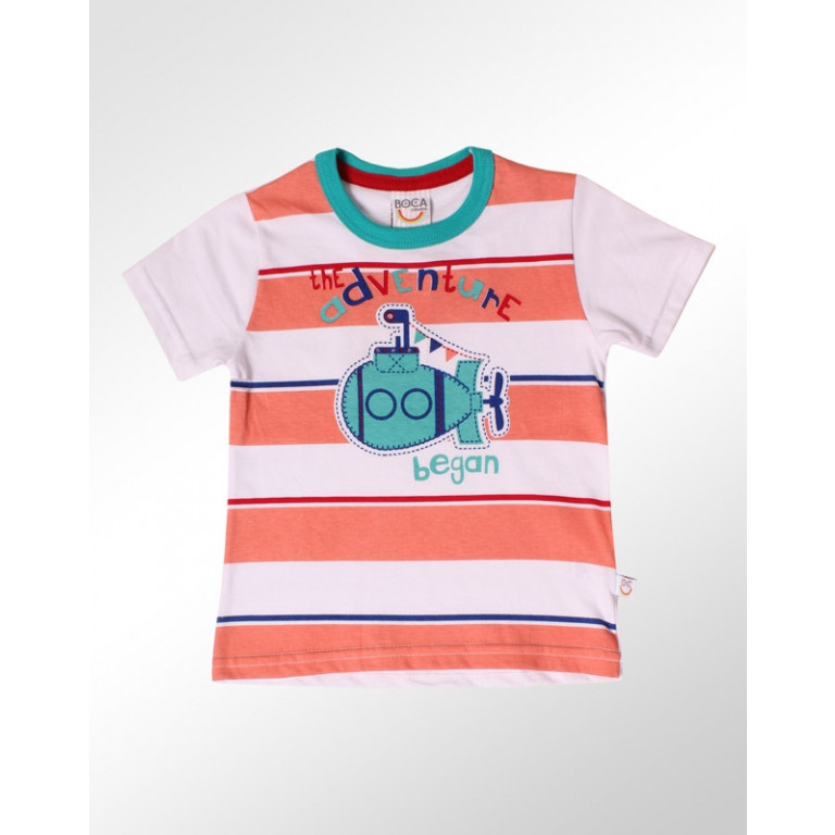 Camiseta Bebê Boca Grande The Adventure Began Branco