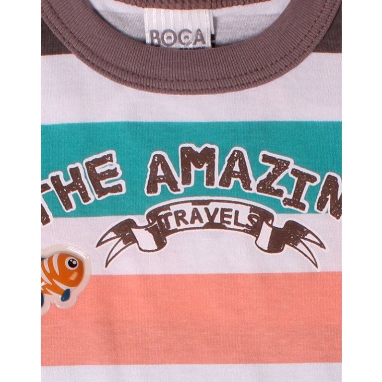 Camiseta Bebê Boca Grande The Amazing Travels Listrada