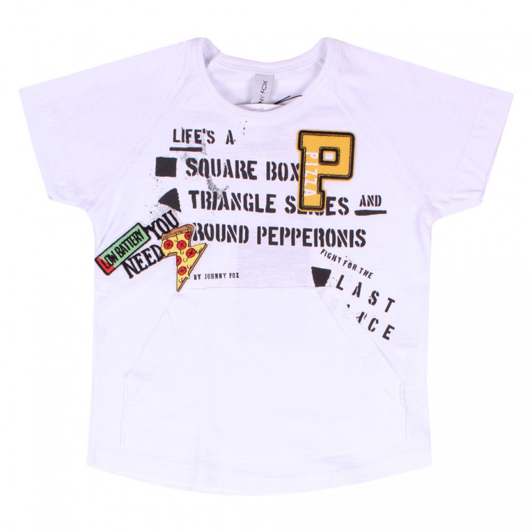 Camiseta Bebê Johnny Fox Pizza (1/2/3)