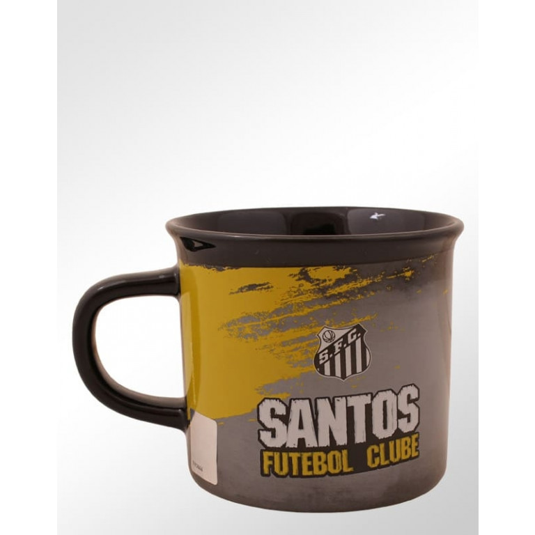 Caneca de Porcelana Do Santos 9 cm