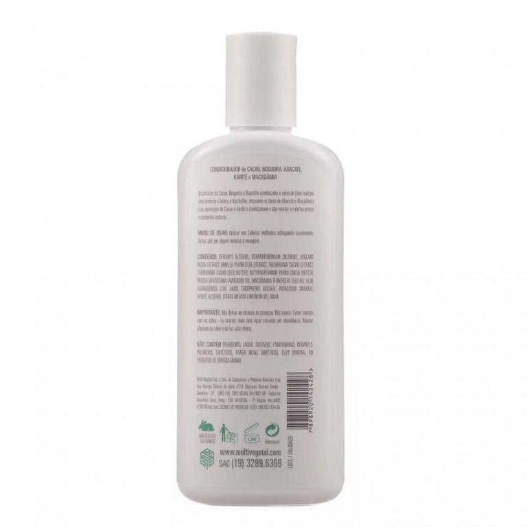 Condicionador Natural Multi Vegetal Nogueira, Cacau e Baunilha 240ml