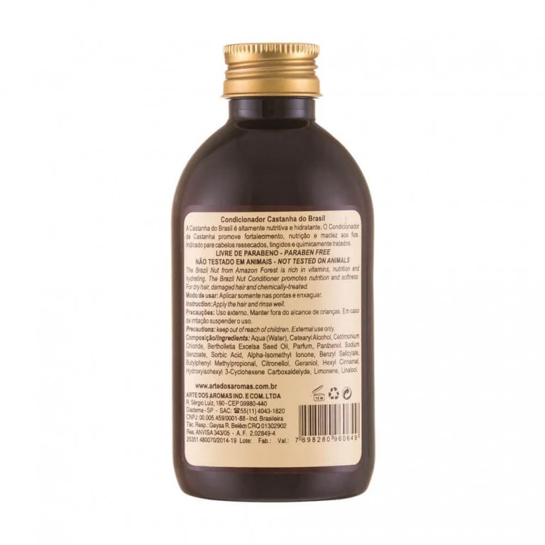 Condicionador Vegano Natural Arte dos Aromas Castanha do Brasil 250ml