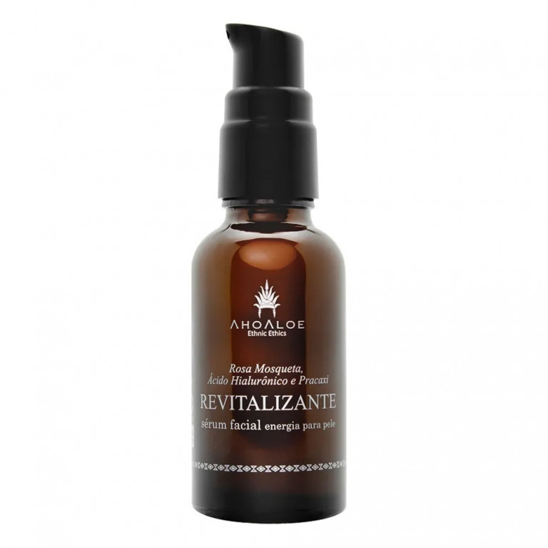 Sérum Facial Natural Vegano Revitalizante com Ácido Hialurônico 30ml